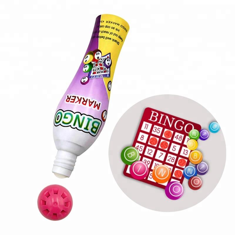 Dauber Marker Pen 43ml Bingo Dabbers without Ink Eco-friendly Plastic for Gambling,bingo Games Popular in Europe CH-2810 10/13mm