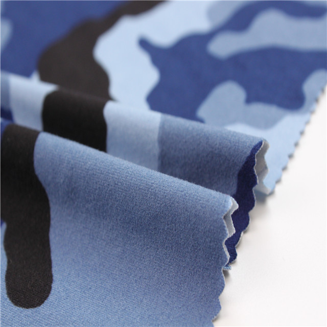 Hot sale camouflage fabric DTY baby spandex brushed dty fabric for sports wear