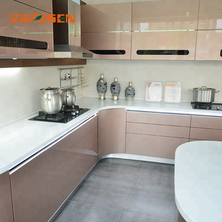 2018 Modern High Gloss Lacquer Kitchen Cabinet Design From Hangzhou Buy Lacquer Kitchen Cabinet Lacquer Kitchen Furniture Round Shaped Kitchen Cabinet Product On Alibaba Com