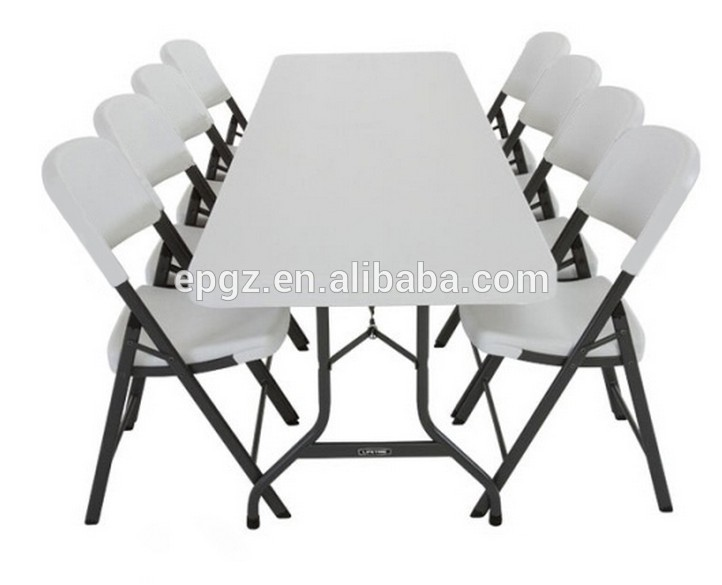 8 People Used Industrial Cafeteria Folding Table And Folding