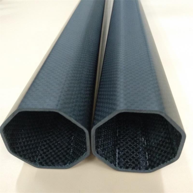 3K саржевая восьмиугольная пустотелая трубка из углеродного волокна