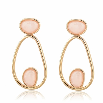 Hot Sale Free Shipping Geometric Acrylic Drop Earrings Fashion Gold Hoop Earrings