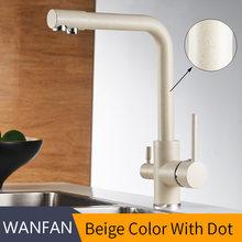 Фильтр для кухонных смесителей на бортике смеситель 360 Вращение с очисткой воды особенности смеситель кран для кухонных WF-0175(Китай)