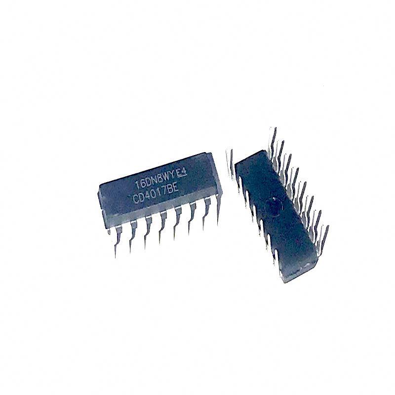 10PCS CD4017BE 4017 CD4017 Decade Counter Divider IC