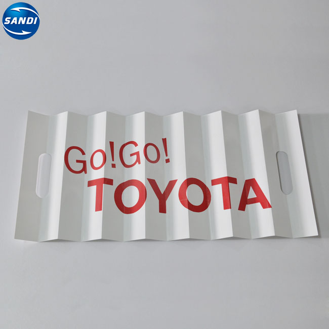 Promotional custom full color printed fan paper folding hand clapper