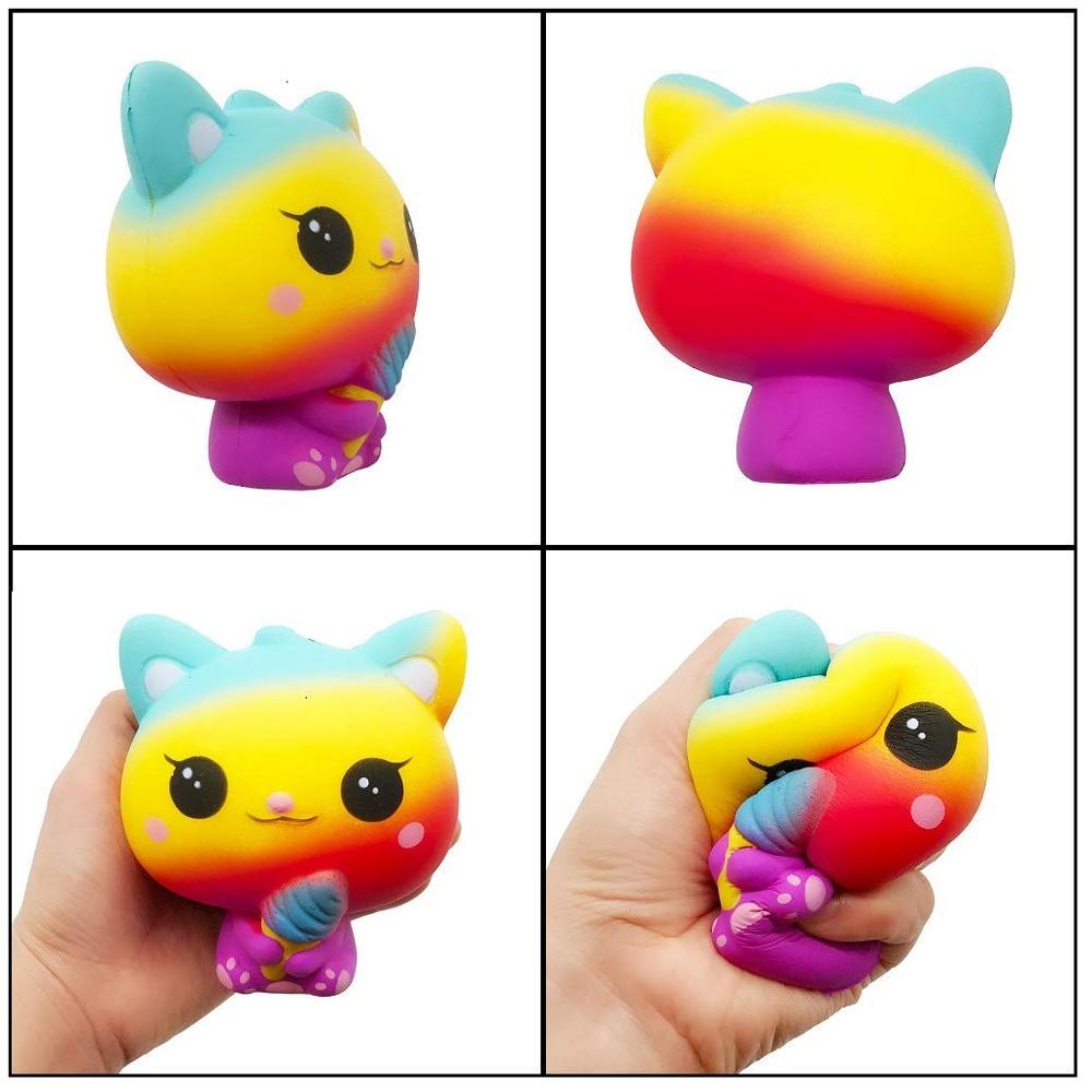 4 Pcs Kawaii Jumbo Squishy Toy Slow Rising Unicorn Donut Cake Ice Cream Cat Galaxy Deer Scent Squishies Pack Kid Stress ball