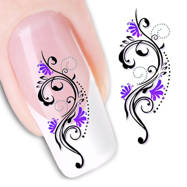 Water Transfer Nail Art Stickers Decal Beauty Sexy Snake Flowers Design Decorative Diy French Manicure Foils Stamping Tools Diy Makeup And Nails