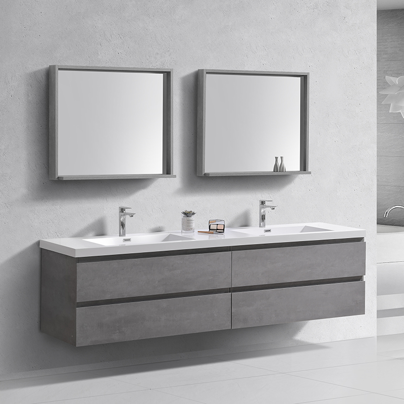 New Design 60 Inches Wall Hung Double Sink Basin Bath Vanity Buy Mirror Cabinet Bathroom Vanity Wall Mounted Hand Wash Bathroom Cabinet Vanity High Quality Ready Made Bathroom Cabinet Wash Basin Options Corner