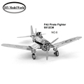 F4U Pirate Fighter plane model 3D puzzle DIY metalic jigsaw free shipping best birthday gift for