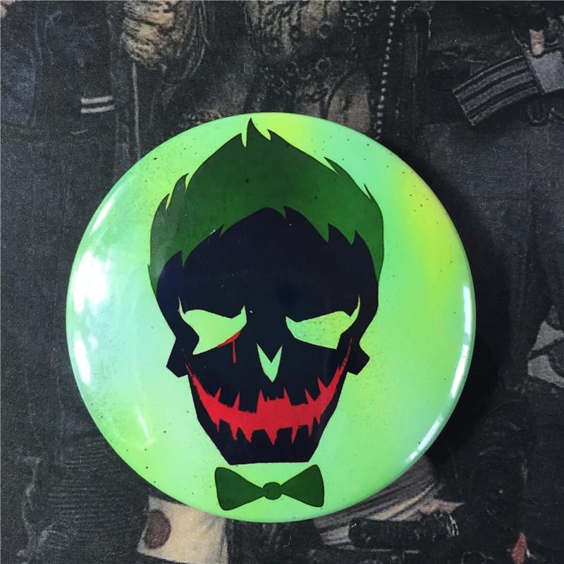 38008c5aab44 Suicide Squad Harley Quinn Cosplay Accessory Custom Made ButtonBadge Pins  Women Batman Arkham Asylum City Joker Halloween SSA