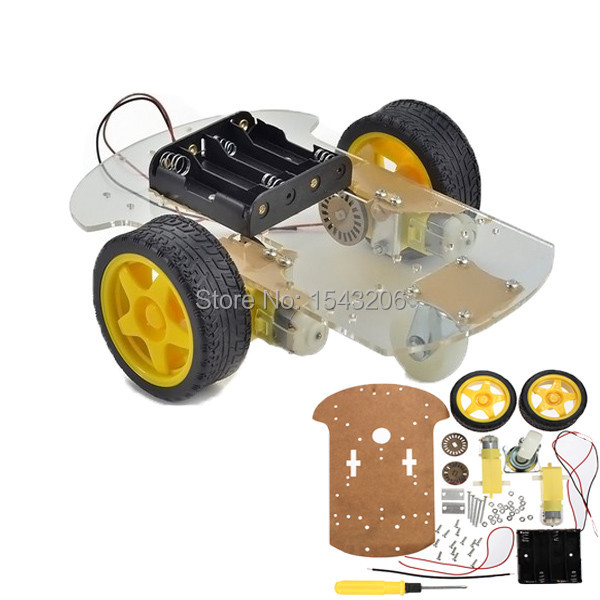 New High Quality 2wd  Motor Smart Robot Car Chassis Kit Speed Encoder Battery Box For Arduino