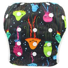 Одежда для купания для мальчиков и девочек; Многоразовые Короткие плавки; детские подгузники; тканевые подгузники; детские подгузники; Спор...(Китай)