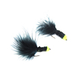 6 PCS Free Box Yellow Egg Sucking Leech Bugger flies fly fishing 10 With Flashabou Trout