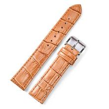 Новый бренд Ремешки для наручных часов кожаный ремешок 20 мм 24 мм ремешок для мужчин и женщин часы браслет аксессуары белый коричневый ремеш...(Китай)