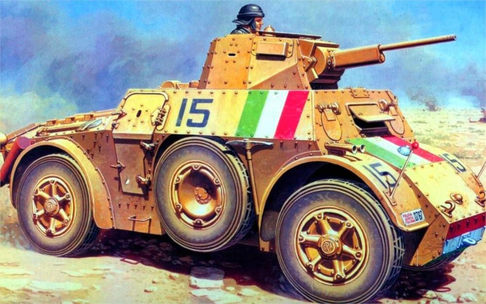 art Autoblinda 41 Autoblinda 41 AB 41 an <font><b>Italian</b></font> an armored car a tower with a 20-mm gun 4 Sizes <font><b>Home</b></font> <font><b>Decoration</b></font> Canvas Poster