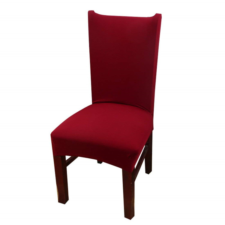 Однотонный Чехол для стула из спандекса лучшего качества, Прямая продажа с завода, низкая цена, Рождественская Свадебная Декорация