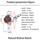 Watch Fabric Fabric Wood Watches Flower Shape Wood Watch With Fabric For Lady. Reloj De Madera...
