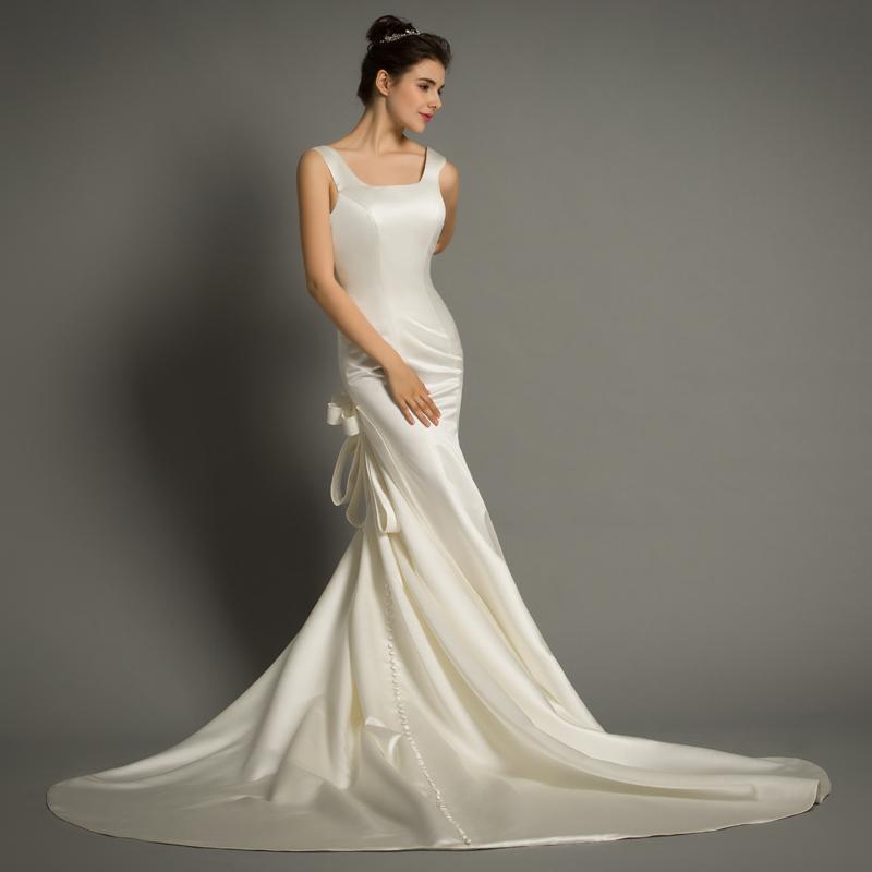 Simple Elegant Open Back Long Sleeve Wedding Dress: DHG621 Elegant Simple Sexy Open Back Wedding Dress Sexy