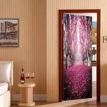 2 шт./компл. 3D наклейка на дверь с эффектом Морского Пейзажа, раздвижные ворота, Настенные обои, декоративные обои для гостиной, дома, спальни(Китай)