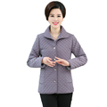 Womens Autumn Warm Quilted Coats Grey Black Army Green Red Orange Jackets Middle Aged Woman Basic