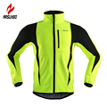 ARSUXEO Thermal Cycling Jersey Winter Warm Up Bicycle Clothing Windproof Waterproof Soft shell Coat MTB Bike