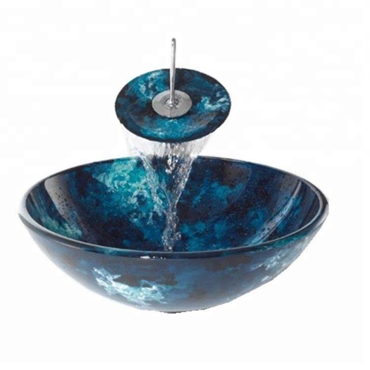 Fashionable Bathroom Vanity Units Glass Wash Sink Bowl Buy Glass Vanity Sink Coloured Glass Bowl Glass Wash Sink Bowl Product On Alibaba Com