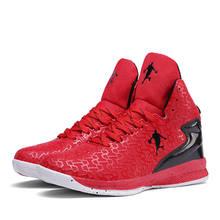Новая сетчатая Баскетбольная обувь с высоким берцем, легкая Нескользящая износостойкая спортивная обувь для тренировок в помещении, дышащ...(Китай)