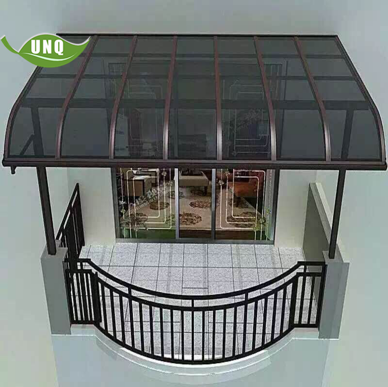 patio canopy for rain shade with polycarbonate roof