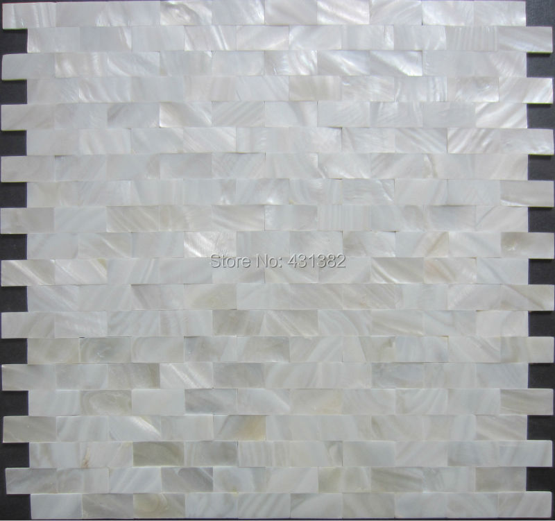 2019 Home Mosaics Tiles White Subway Brick Mother Of Pearl