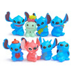 8pcs Mini Stitch action figurines figura toy set 2016 New Anime stitch Christmas gift and dolls