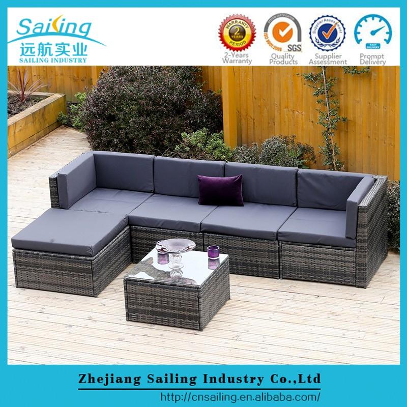 Outdoor Furniture Rattan Corner Sofa Rattan Furniture Garden Outdoor Sofa set