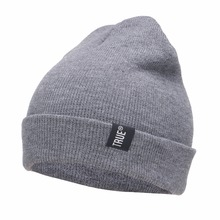Letter True Casual Beanies for font b Men b font Women Fashion Knitted Winter Hat Solid