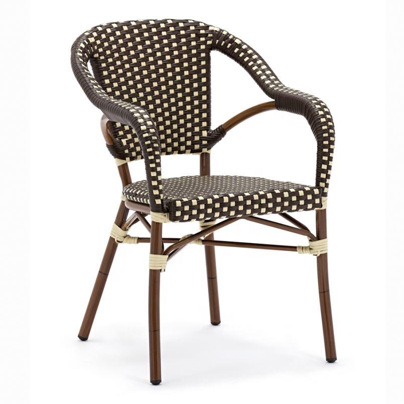 Multifunctional Steel Rattan Chair With Hidden Ottoman Flower