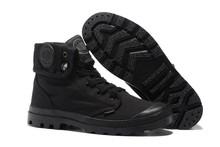 PALLADIUM Pallabrouse Semua Hitam Pria Militer Ankle Boots Tinggi atas  Sepatu Kanvas Kasual Pria Sepatu Kasual Eur Ukuran 39-45 4d16d496cd