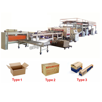 Automatic 2 ply corrugated cardboard production line/packaging line