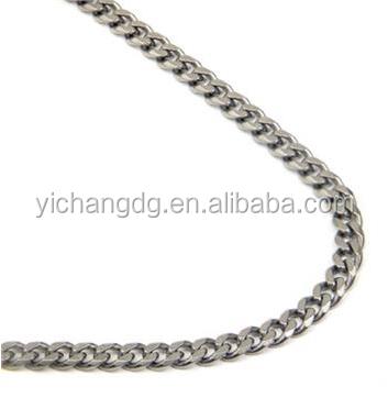 Новое поступление, модное титановое ожерелье из панцирной цепи 4 мм на китайской фабрике Dongguan