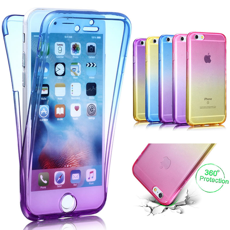 360 Soft Full Protective Cover For Iphone 6 360 Phone Cases For Iphone 7 Cover Front Back Body Clear Tpu Protector - Buy 360 Soft Full Protective ...