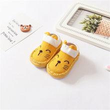 Носки-тапочки с резиновой подошвой для новорожденных мальчиков и девочек, Нескользящие мягкие носки, 2019(China)
