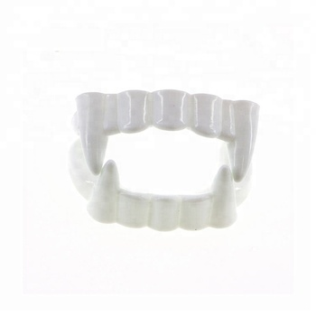 Plastic Halloween vampire teeth fangs for party favors