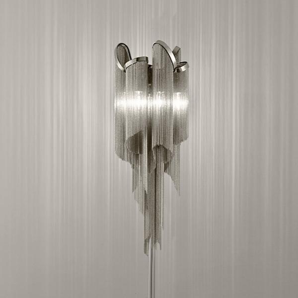 Напольные светильники в античном стиле, Роскошный Алюминиевый напольный светильник на цепочке