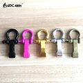 10pcs lot Outdoor Camping Survival Rope Paracord Survival Bracelets O Shaped Stainless Steel Shackle Buckle