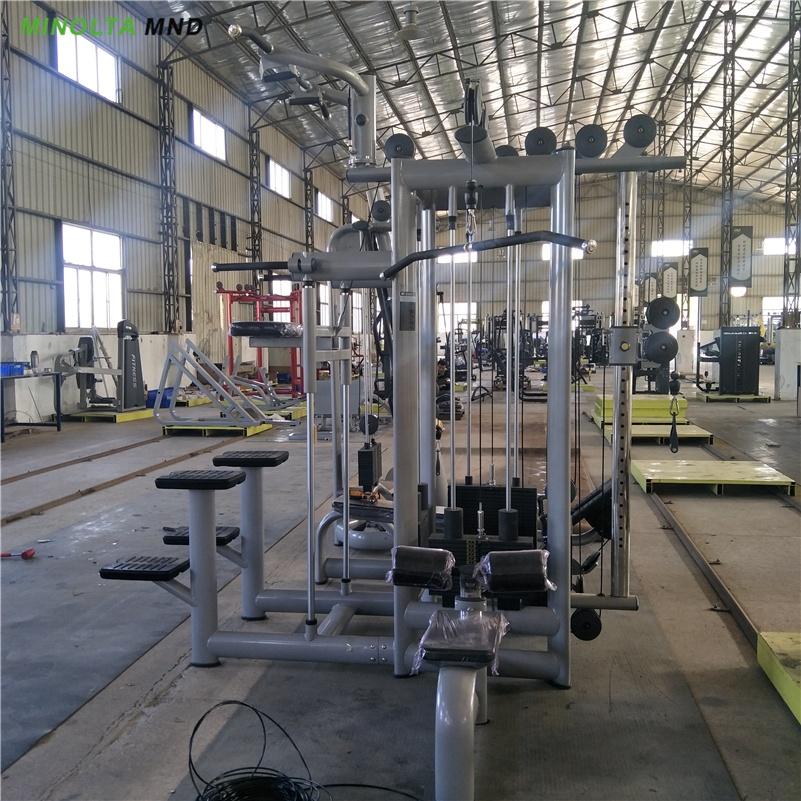 Многофункциональное тренировочное оборудование для тренажерного зала, силовое оборудование для бодибилдинга, набор для тренажерного зала, 4 станции MND F83