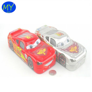 Most competitive special car shaped metal fancy pencil car gift tin box for wholesales
