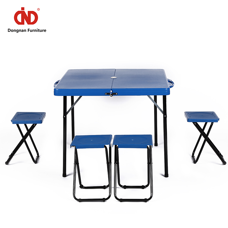 Picnic Table Modern Industrial Style Portable Folding Moon Chair Outdoor Furniture Plastic with Separating Seats 1220 PCS 1 PC