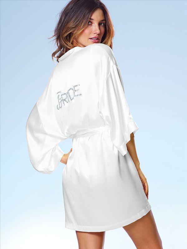 Белый шелковистый ночная сорочка для женщин свадьбы халат, Халаты дамы кимоно халат, Свадебные одеяние