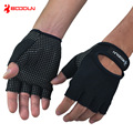 Ebuy360 BOODUN Men Gym Half Finger Fitness Gloves Wear Resistant Lycra Non slip weight lifting Equipment