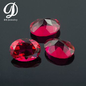 Best Price Fake Gems Oval Shape Color Glass Bead