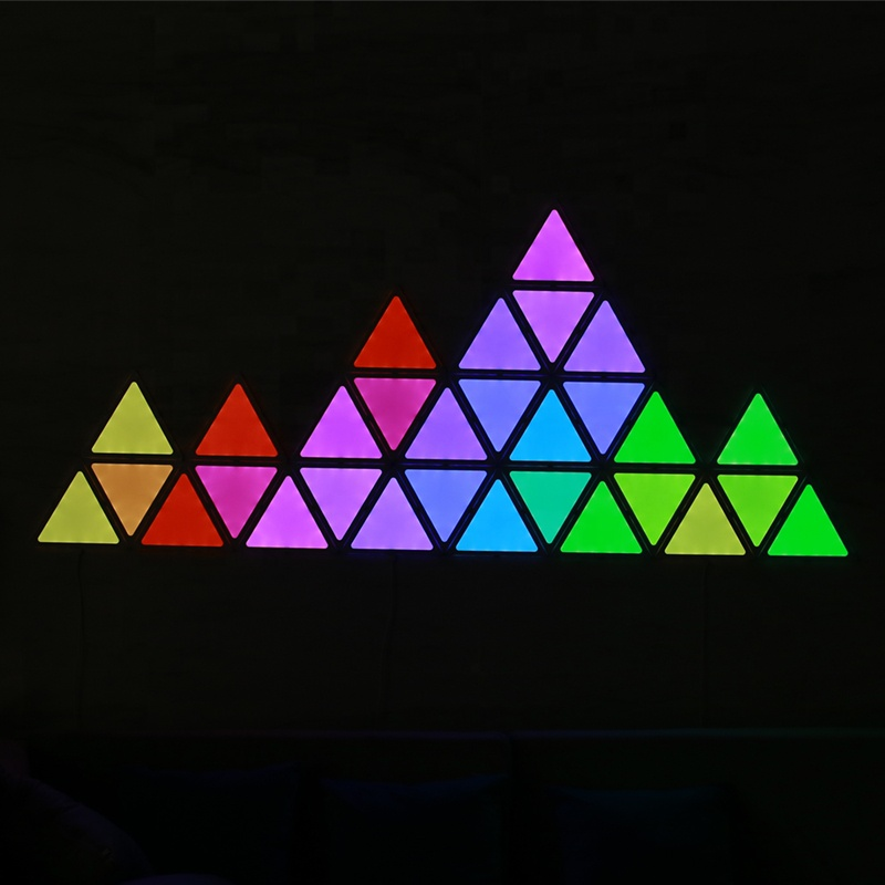 APP/Music Bluetooth Synchronized Control DIY Intelligent Magic Color Board Triangle Smart RGBW RGB LED Smart Light Panels Kit