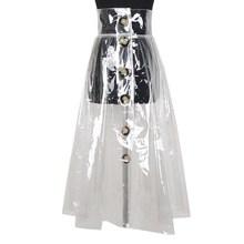 Женская Асимметричная юбка [EAM], прозрачная Асимметричная юбка с высокой талией и двойными карманами, весна 2020, YC41700(Китай)
