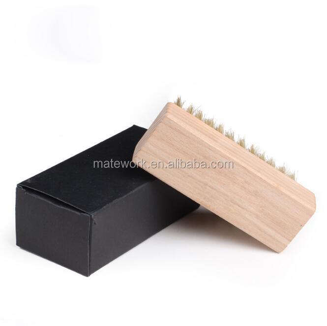 Eco-friendly safe wood handle pig brush, shoe care helper